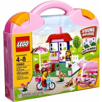 LEGO  Bricks & More Розовый чемоданчик с кубиками LEGO