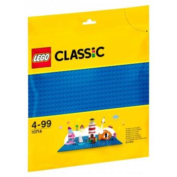 LEGO Classic Базовая пластина синего цвета 10714