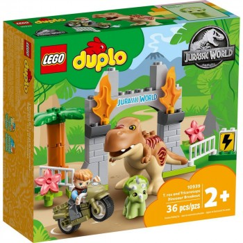 Конструктор LEGO DUPLO Побег динозавров: тираннозавр и трицератопс 10939
