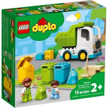 Конструктор LEGO DUPLO Мусоровоз и контейнеры для раздельного сбора мусора 10945