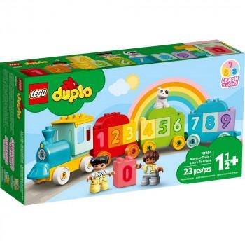 Конструктор LEGO DUPLO Поезд с цифрами - учимся считать 10954