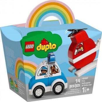 Конструктор LEGO DUPLO Мой первый пожарный вертолет и полицейский автомобиль 10957