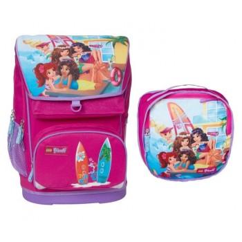 LEGO Рюкзак детский Smartlife Friends Домик на пляже 28л с сумкой для обуви