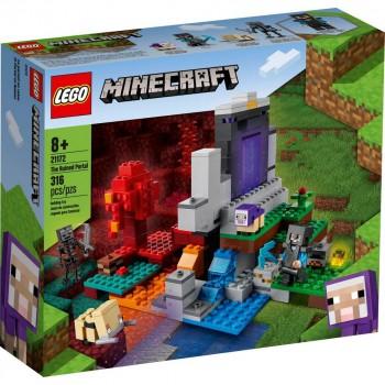 Конструктор LEGO Minecraft Разрушенный портал 21172