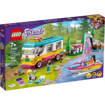 Конструктор LEGO Friends Лесной дом на колесах и парусная лодка 41681