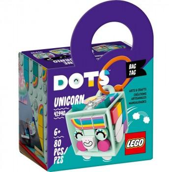 Конструктор LEGO DOTS Брелок для сумки «Единорог» 41940