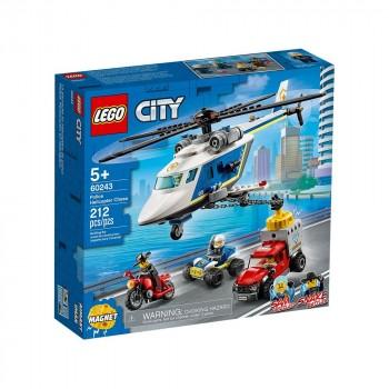 Конструктор LEGO City Погоня на полицейском вертолёте 60243