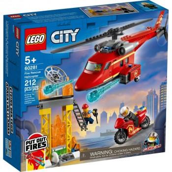 Конструктор LEGO City Спасательный пожарный вертолёт 60281