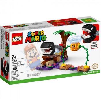 Конструктор LEGO Super Mario Дополнительный набор «Кусалкин на цепи - встреча в джунглях» 71381