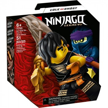 Конструктор LEGO Ninjago Легендарные битвы: Коул против Призрачного воина 71733