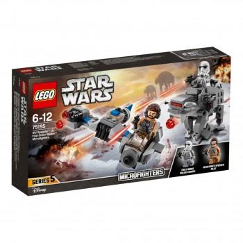Конструктор LEGO Star Wars Микроистребитель летающий мотоцикл против шагохода Первого Ордена 75195