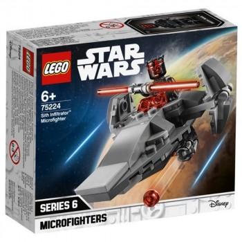 Конструктор LEGO Star Wars Микрофайтеры: Корабль-лазутчик ситхов 75224
