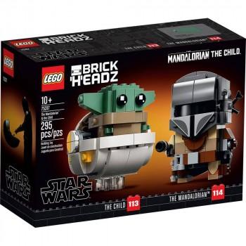 Конструктор LEGO BrickHeadz Мандалорец и малыш 75317