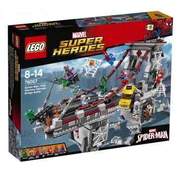 LEGO Super Heroes  Человек-паук: Решающая битва воинов паутины на мосту 76057