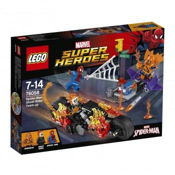 LEGO Super Heroes  Человек-паук: Призрачный гонщик собирает команду 76058
