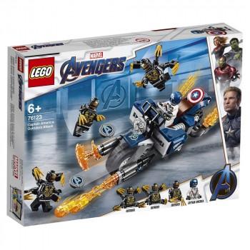 LEGO Super Heroes Капитан Америка: Атака Аутрайдеров 76123