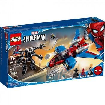 Конструктор LEGO Super Heroes Реактивный самолёт Человека-Паука против Робота Венома 76150