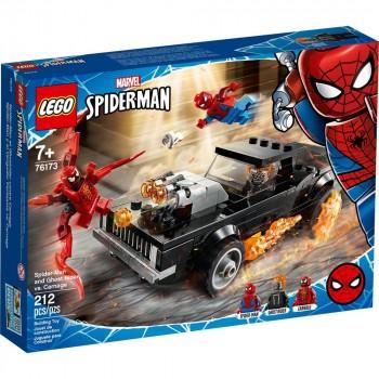Конструктор LEGO Super Heroes Человек-Паук и Призрачный Гонщик против Карнажа 76173