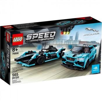 Конструктор LEGO Speed Champions Formula E Panasonic Jaguar Racing GEN2 car & Jaguar I-PACE eTROPHY 76898
