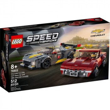Конструктор LEGO Speed Champions Chevrolet Corvette C8.R Race Car and 1968 Chevrolet Corvette 76903