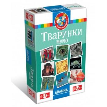 Настольная игра Granna Мемо «Животные» укр 82319