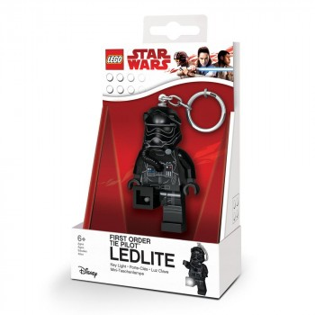 LEGO Star Wars Брелок-фонарик Пилот штурмовика TIE Первого Ордена (LGL-KE113)