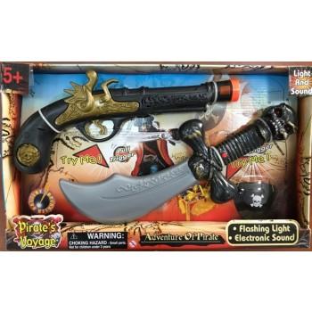 """Набор """"Путешествие пиратов"""" с саблей и пистолетом"""