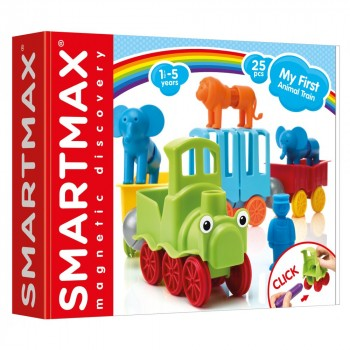 """Smartmax Магнитный конструктор """"Мой первый поезд с животными"""" (SMX 410)"""