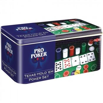 Tactic Набор для покера Техасский холдем в металлической упаковке 03095