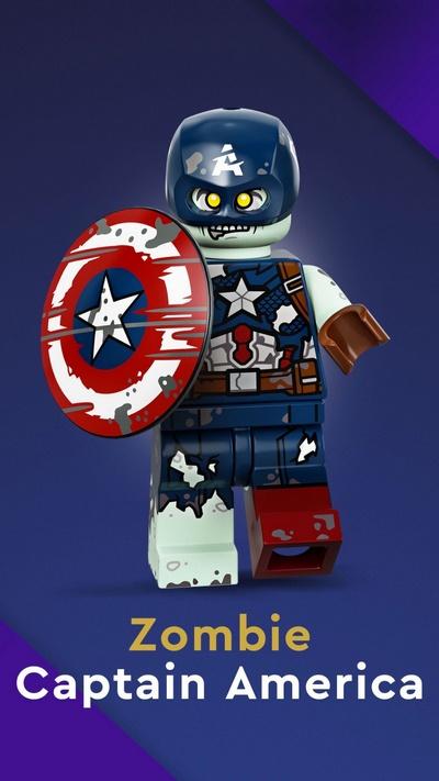 Зомби Капитан Америка (71031-09)